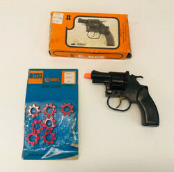 Vintage Gt Starter Cap Toy Gun Snub Nose Revolver W/ Box And Caps Made In Italy
