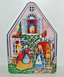Silver Crane 1996 Fairy Tale Cottages Cinderella House Tin Box Container