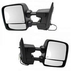 Mirror Power Heater Puddle Turn Signal Textured Pair For Titan