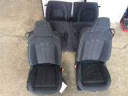 2018-2019 Ford Mustang Front And Rear Seat Set Coupe Cloth 9k Miles Oem