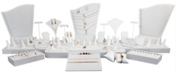 41pc Showcase Jewelry Display Stand White Display Set For Jewelry Store Displays