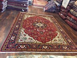 Genuine Hand Knotted Vintage Classic Area Rug Traditional Floral Carpet 8x11,735