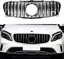 Silver Front Grille For Mercedes-benz X156 Gla200 Gla250 Gla45 Amg 2014-2016