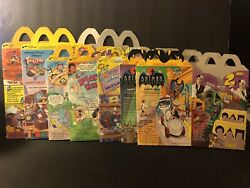Vintage Lot Of 7 Mcdonald's Happy Meal Lunch Boxes. Disney Batman Bobby's World