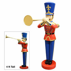 48 Toy Soldier With Trumpet 4ft Statue Christmas Decoration Collectible