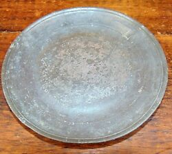 Antique 18th C. Colonial American Pewter Deep Dish/plate/charger Unmarked