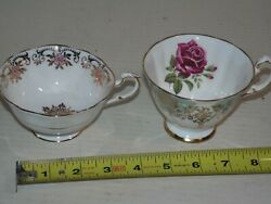 Lot Of 2 Paragon Fine Bone China Tea Cups - England - Floral Roses