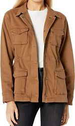 The Drop Womenand039s Andi Zip Front Stretch Denim Utility Jacket