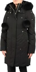 Moose Knuckles Womenand039s Stirling Parka With Fur Pom