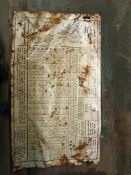 Mccormick Deering Tin Sign Grain Sowing Tables Chicago I'll. This Sign Is 1943