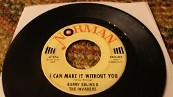 Barry Ebling And The Invaders, Sunny Day Rain, Garage Rock, Norman 45, Ex, Nice