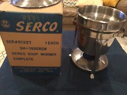 Vintage Serco Catering Sterno Soup Warmer -japan - 61327