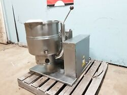 Groen H.d. Commercial Natural Gas 40 Qt. S.s. Countertop Steam Jacketed Kettle