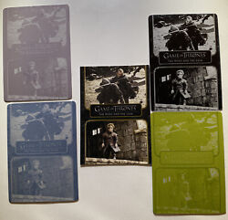 Complete Game Of Thrones Printing Plate Set And Base Card 5 The Wolf And The Lion