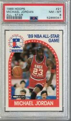 1989 90 Hoops All Star Michael Jordan #21 PSA 8 $31.99