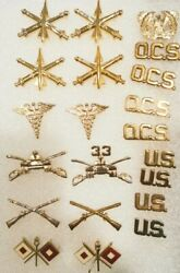 Us Army Artillery Air Defense Medical 33 Armor Cavalary Infantry Pin Lot Of 21