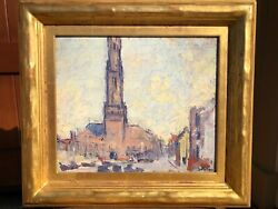Early California Art, Joseph Raphael Oil Painting, Gold Leaf Frame, Museum Owned