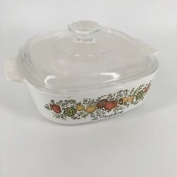 Rare Vintage 70s 2 Qt Corning Ware La Marjolaine A-2-b Spice Of Life Gold Stamp
