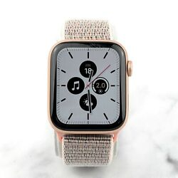 Apple Watch Series 6 Gold Aluminum Gps 44mm With Pink Sand Nylon Loop