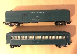 American Flyer S Scale 650 And 651 Green Passenger Cars
