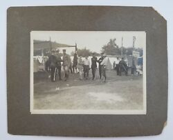 Antique Photo Military Men At Camp Edward L Young Put In Bay Ohio 1913