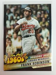 2020 Topps Update Frank Robinson Decades Best Black Parallel Serial 192 299