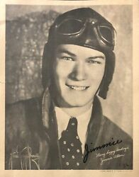 """Autographed Photo Of Star Of Radio Serial """"jimmie Allen Aviator"""" 1936"""