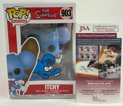 Tone Rodriguez Signed The Simpsons Itchy And Scratchy Funko Pops Jsa Coa