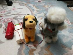 1950s 1960s Vintage Battery Operated Toy Dogs Made In Japan As Is Parts Repair