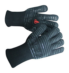 Extreme Heat Resistant Grill/bbq Gloves | Premium Insulated Durable Fireproof |