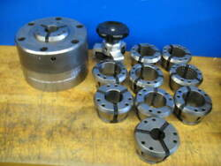 Micro Centric/hainbuch Cb65d Collet Chuck A2-8 Mount +10 Collets+inst Tool
