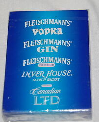 Vintage New Gin Vodka Whiskey Canadian Ltd Playing Cards Sealed Deck Blue