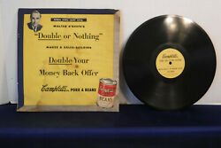 Walter O'keefe's Double Or Nothing, Promo Campbell's Pork And Beans, Ad,10 78 Rpm