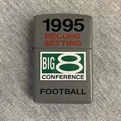 Vintage 1995 Record Setting Big 8 Conference Football Zippo Lighter
