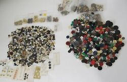 5.5 Lbs Vintage Sewing Buttons Variety Bulk Assorted Colors Types Lot Craft