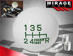 For Bmw M/t Engine Stick Shift Solid Round Ball Shift Knob Set Fand039ing Fast Green