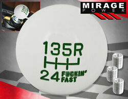 For Honda White Green M8 M10 M12 Racing Fand039ing Fast Shift Knob Lever Handle Ball