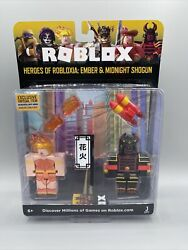 Roblox Heroes Of Robloxia Ember And Midnight Action Figures And Virtual Code Nib