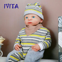 Ivita 21 Full Body Silicone Doll Big Eyes Cute Girl Toy Baby+clothes Xmas Gift