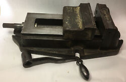 """Antique Palmgren 6"""" Milling Vise W/6.75"""" Max Jaw Opening Machinist Tools"""
