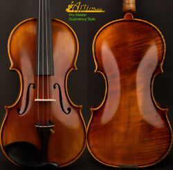 An Master Antique Guarnerius Style Violin 4/4 One Piece European Wood Power Tone