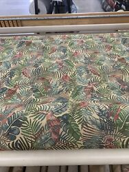 """Tapestry Upholstery Fabric Tropical toucans Parrots 54""""wide By The Yard"""