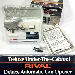 New Vintage Rival Deluxe Under Cabinet Electric Can And Bottle Opener Nos