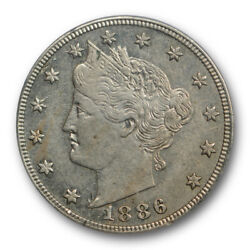 1886 5c Liberty Head Nickel Pcgs Au 53 About Uncirculated To Ms Key Date