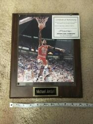 Michael Jordan Chicago Bulls Autographed Framed 16x20 Picture Photo With Coa