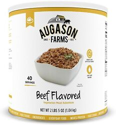 Augason Farms Beef Flavored Vegetarian Meat Substitute Emergency Mre Meal Food