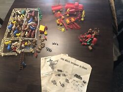 1960's Vintage T. Cohn Superior Farm With Animals Farm Equipment With 143 Pieces