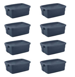 Rubbermaid 10 Gal Storage Totes Containers 8 Pieces Roughneck️ Bin Garages Box