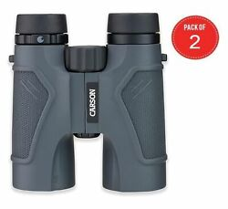 Carson 3d Series 8x42mm Binocular With High Definition Optics Pack Of 2