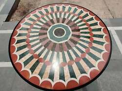 30 Black Round Marble Table Top Coffee Dining Inlay Mosaic Antique Malachite 4